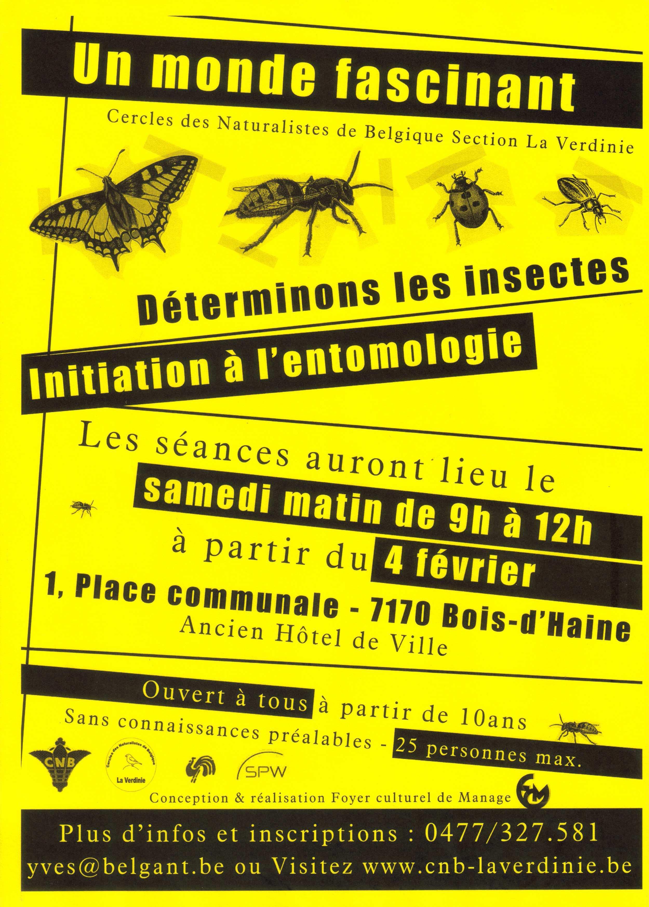 2eme edition de l'initiation à l'entomologie par les CNB Entomo