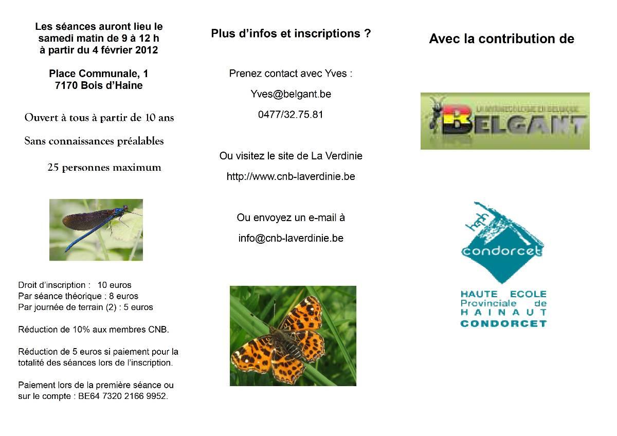 2eme edition de l'initiation à l'entomologie par les CNB Tryptique2